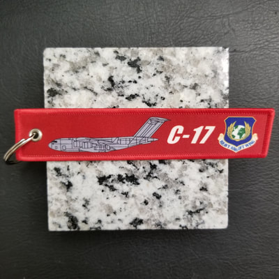 Custom C-17 Heavy Airlift Wing Remove Before Flight Keychain, Tag, or Streamer