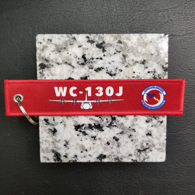 Custom WC-130J Hurricane Hunters Weather Reconnaissance  Remove Before Flight Keychain, Tag, or Streamer
