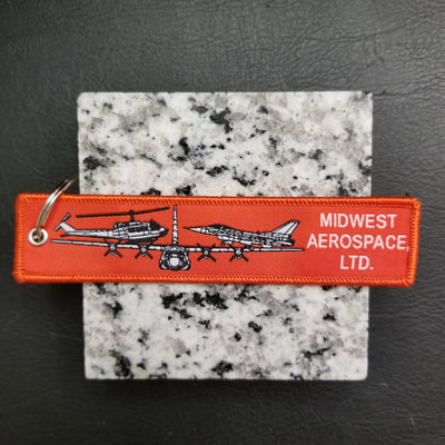 Custom Midwest Aerospace LTD Remove Before Flight Keychain, Tag, or Streamer