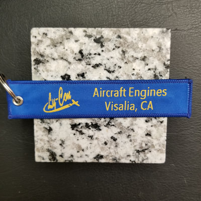 Custom Ly-Con Aircraft Engines Visalia, California Remove Before Flight Keychain, Tag, or Streamer