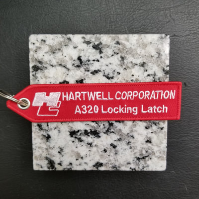 Custom Hartwell Corporation A320 Locking Latch Remove Before Flight Keychain, Tag, or Streamer