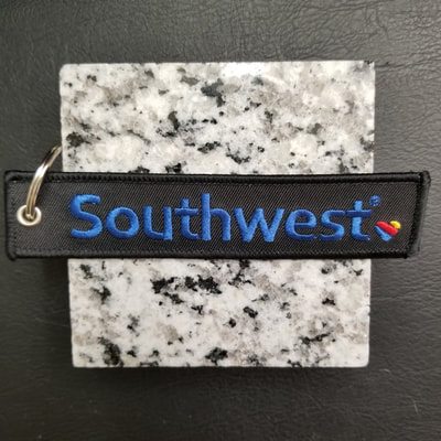 Custom Southwest Airlines Remove Before Flight Keychain, Tag, or Streamer