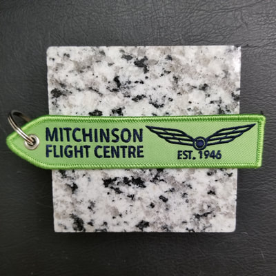 Custom Mitchinson Flight Centre Remove Before Flight Keychain, Tag, or Streamer