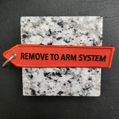 Custom Remove To Arm System Remove Before Flight Keychain, Tag, or Streamer