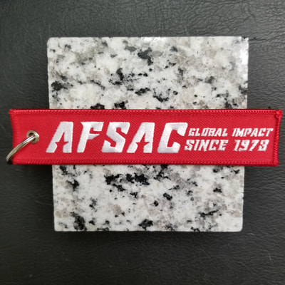 Custom AFSAC Air Force Strategic Air Command Global Impact Remove Before Flight Keychain, Tag, or Streamer