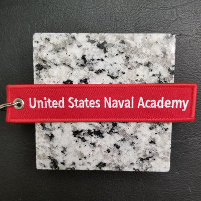 Custom United States Naval Academy USNA Remove Before Flight Keychain, Tag, or Streamer