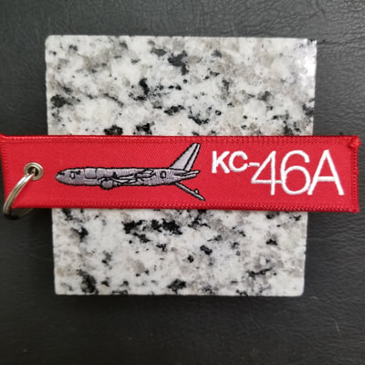 Custom Boeing KC-46A Remove Before Flight Keychain, Tag, or Streamer