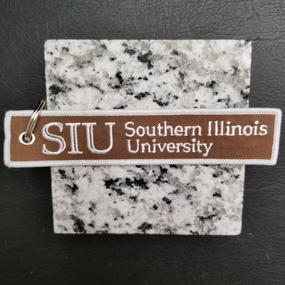 Custom Southern Illinois University SIU Carbondale Remove Before Flight Keychain, Tag, or Streamer