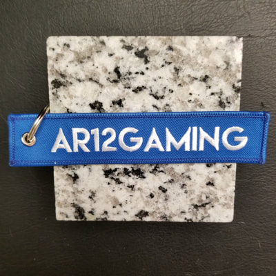 Custom AR12 Gaming Remove Before Flight Keychain, Tag, or Streamer