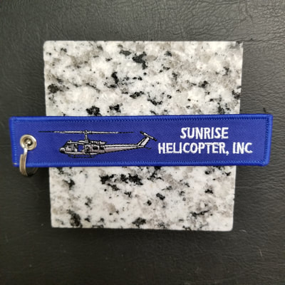 Custom Sunrise Helicopter Inc Remove Before Flight Keychain, Tag, or Streamer