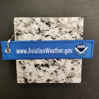 Custom National Oceanic and Atmospheric Administration NOAA Aviation Weather Remove Before Flight Keychain, Tag, or Streamer