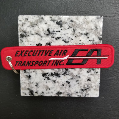 Custom Executive Air Transport Inc Remove Before Flight Keychain, Tag, or Streamer