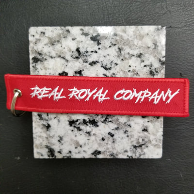 Custom Real Royal Company Remove Before Flight Keychain, Tag, or Streamer