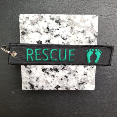 Custom Combat Rescue Remove Before Flight Keychain, Tag, or Streamer