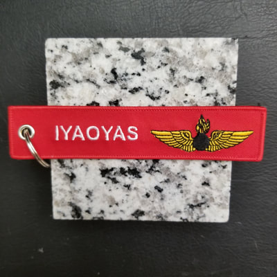 Custom If You Ain't Ordinance You Ain't Shit IYAOYAS Remove Before Flight Keychain, Tag, or Streamer