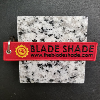 Custom Blade Shade Remove Before Flight Keychain, Tag, or Streamer